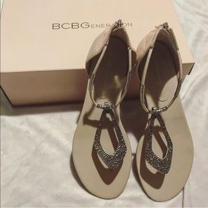 NWT BCBG nude sandals size 8.5